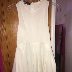 ASOS WHITE SKATER DRESS